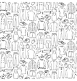 Doodle seamless pattern with man clothes vector image