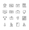 Eduacation Icons Set vector image vector image