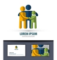 family Logo icon emblem template business card vector image