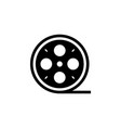 film reel icon black on white vector image