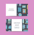 flat icons business card for windows vector image