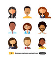 flat icons users avatars office business vector image vector image