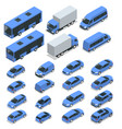 flat isometric high quality city transport car vector image vector image