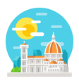 Florence cathedral flat design landmark vector image