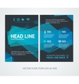 Flyer Design Templates Abstract Geometric Wave vector image vector image
