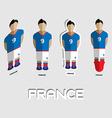 France Soccer Team Sportswear Template vector image vector image
