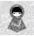 geometric kawaii babushka matryoshka doll vector image vector image
