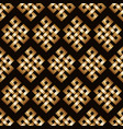 golden endless knot background vector image vector image