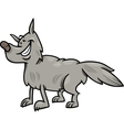 gray wolf animal cartoon vector image vector image