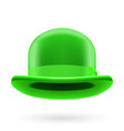 Green bowler hat vector image vector image