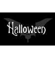 Greeting card or invitation Halloween on black vector image vector image