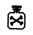 grunge poison bottle vector image