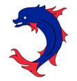 heraldic fish vector image