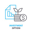 investment option concept outline icon linear vector image