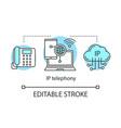 ip telephony concept icon vector image