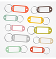 Key Labels Set with Rings vector image