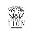 lion original logo design emblem for poster vector image