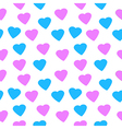 Love heart seamless pattern vector image vector image