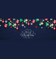 merry christmas banner paper art holiday icons vector image