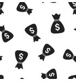 money bag icon seamless pattern background vector image vector image