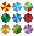 Multi colored beach umbrellas vector image vector image