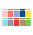 Palette Colors 2016 vector image vector image
