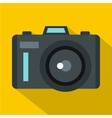 Photocamera icon flat style vector image vector image