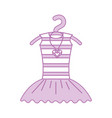 pink tutu ballet and necklace on the hanger vector image vector image