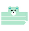 polar bear headband vector image
