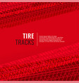 red background with tire tracks print marks vector image vector image