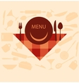 restaurant menu design with smiley on plate vector image