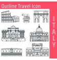 Rome Landmark Outline 1 vector image