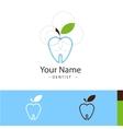 sample logo for dental surgeries vector image vector image