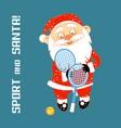 santa claus playing sports games vector image vector image