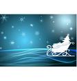santa sleigh vector image