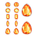 set of five forms of amber vector image vector image