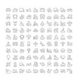 set simple icons transport vector image vector image