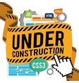site under construction design vector image vector image