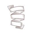 sketch vintage banner hand drawn curved ribbon vector image vector image