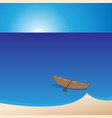 small boat should leave the shore vector image