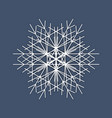 snowflake logo winter isolate icon on dark blue vector image vector image
