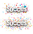 Success paper banners vector image vector image