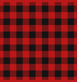 tartan lumberjack red plaid vector image vector image
