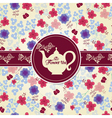 Teapot with flower pattern vector image vector image
