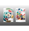 template design layoutbrochure flyergeometric vector image vector image