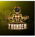 thunder sport mascot logo design vector image vector image