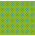 Tile pattern blue polka dots on green background vector image vector image