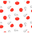 tomato stylized seamless pattern background for vector image vector image