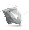 Triangular abstract grayscale 3D shape digital vector image vector image
