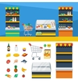 Two Horizontal Supermarket Banners vector image vector image